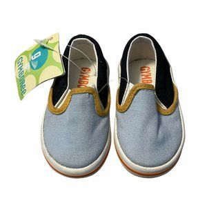 gymboree boys infant slip on shoes 1 blue Nwt